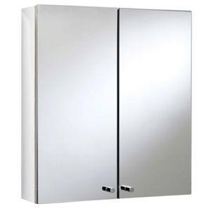 Michigan Double Door Bathroom Cabinet Stainless Steel