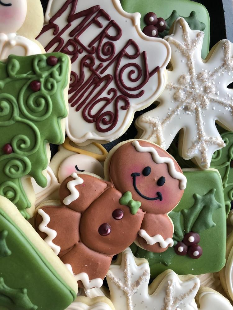 Merry Christmas cookie set by Penny White Christmas