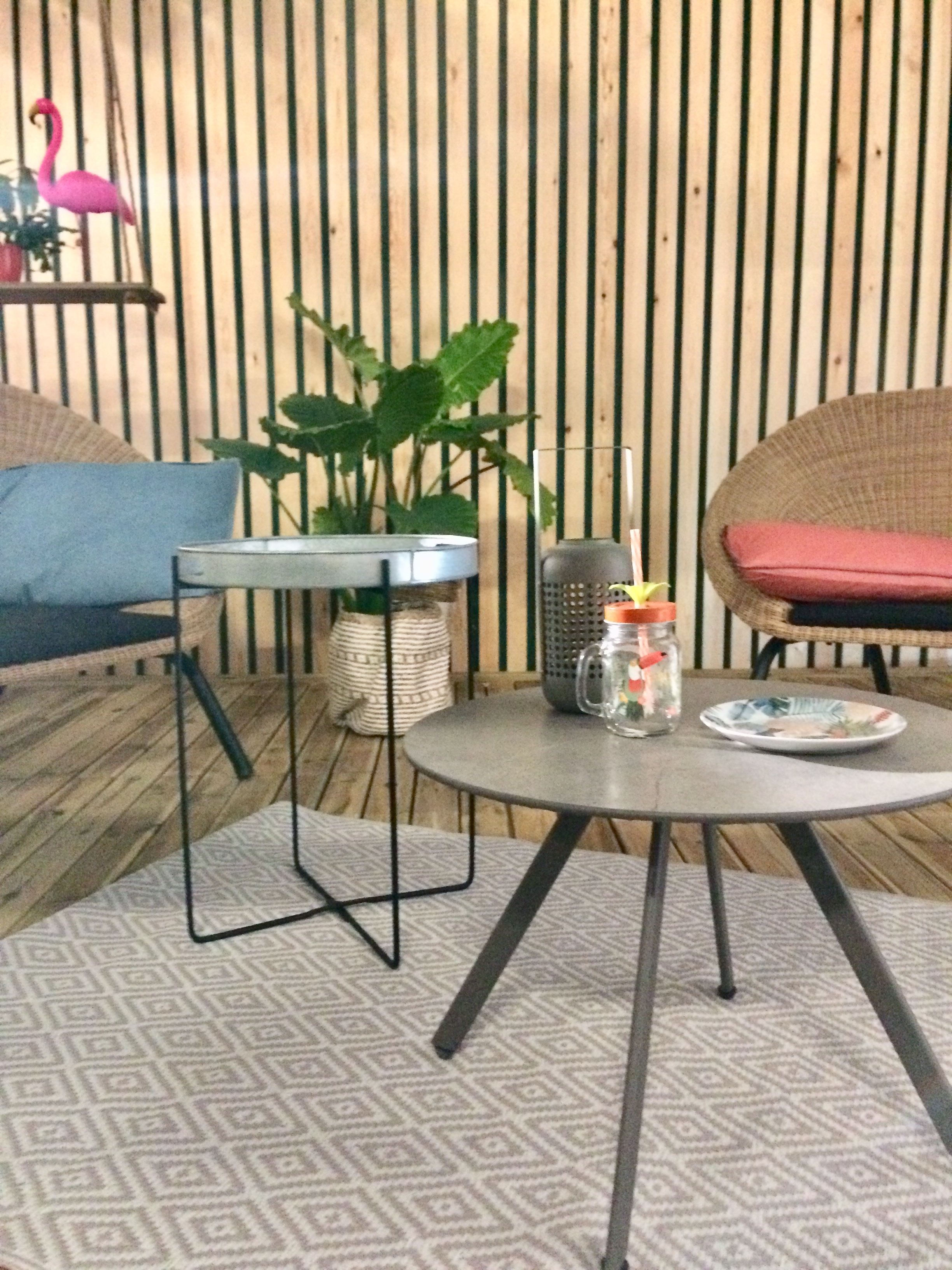 Table Basse Metal Ronde Blooma Derry Anthracite O60 Cm Table