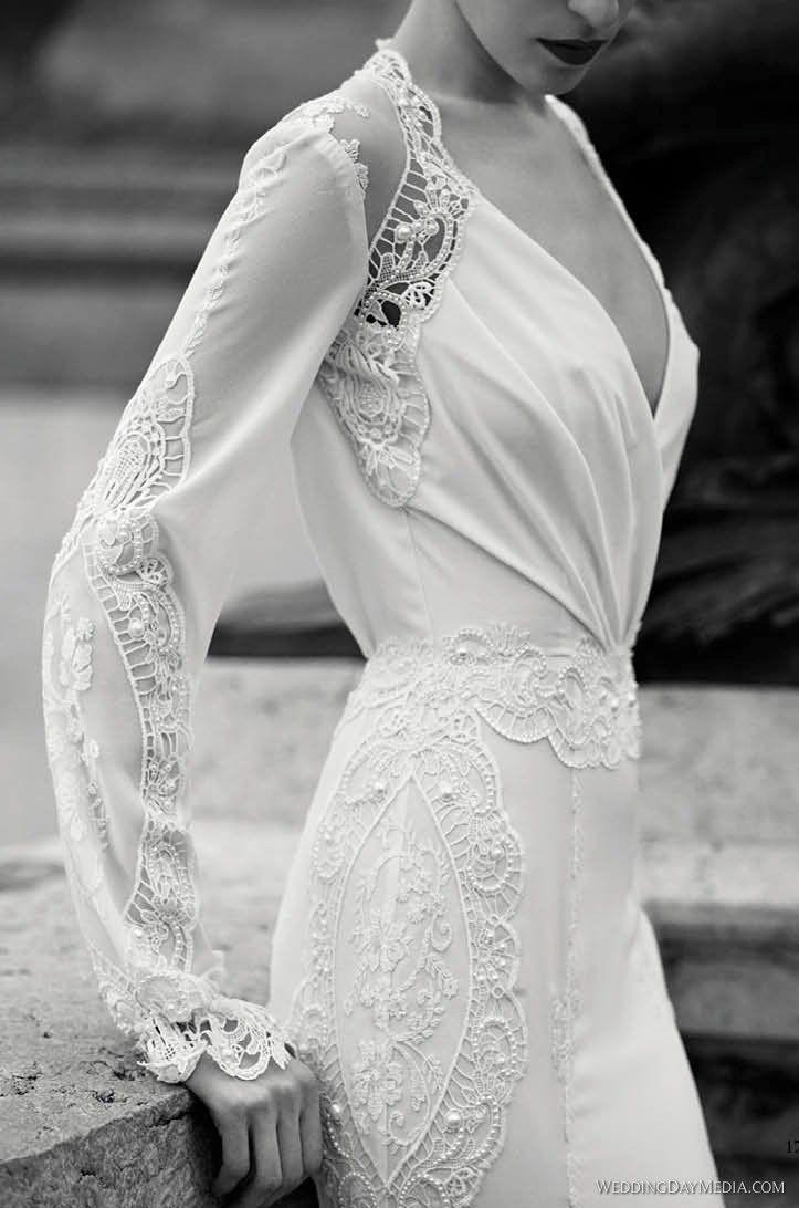 elegant long sleeve wedding dresses wedding pinterest