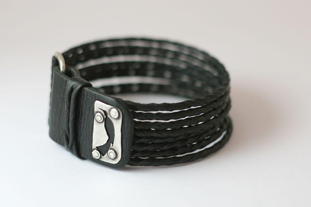 Huia leather bracelet