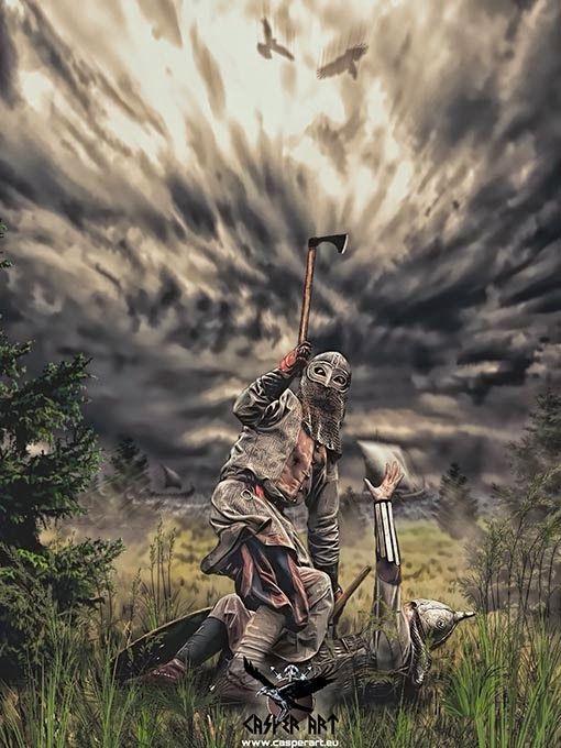 Viking on the way to Valhalla by Casper Art