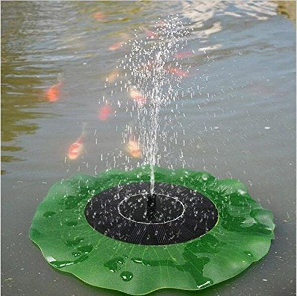 Garden water features solar power  Simulation lotus leaf Floating Bird Bath ucfontueucbueSolarucbueucfont