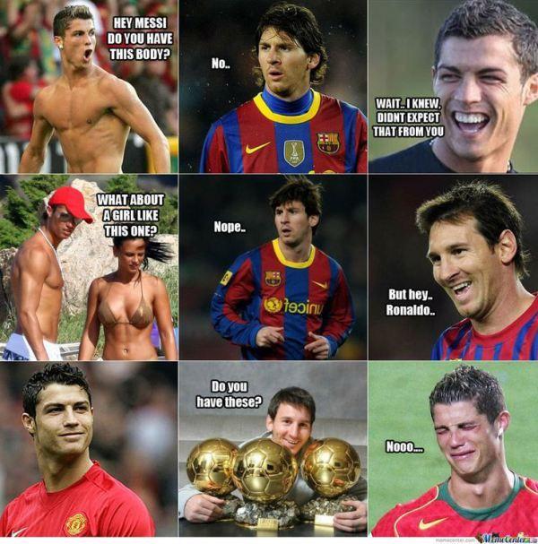 Ronaldo vs Messi #memes #bola #football