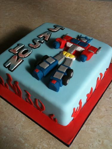 Transformers Optimus Prime Personalised Edible Icing Cake Topper 7 5