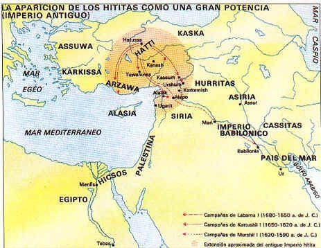 Mapa De La Expansión Hitita Anatolia Vive Su Historia Al Amparo De Su Posición Estratégica Es El Puente Natural Entre Imperio Antiguo Imperio Hitita Asirios