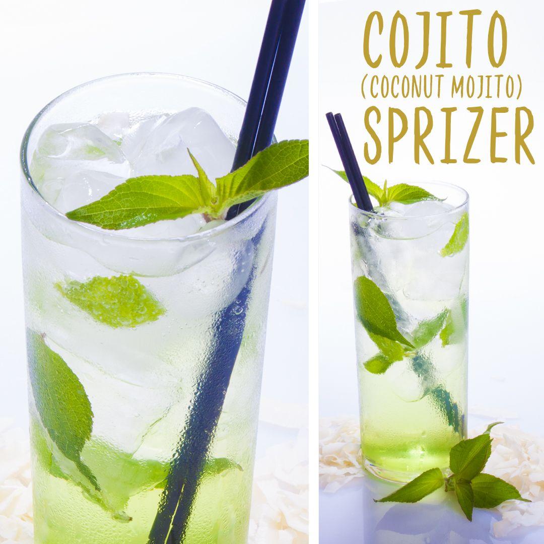 Cojito Spritzer Recipe Spritzer Recipes Rum Desserts Sugar Free Drinks