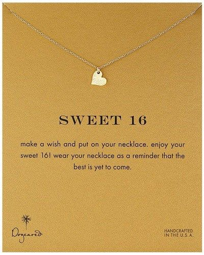 Sweet 16 Heart Necklace. Birthday gifts for 16 year old girls.