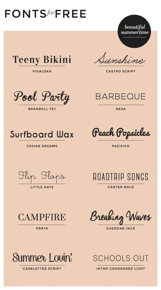 Free Fonts : Summertime | Print Design Ref | Typography fonts, Fonts