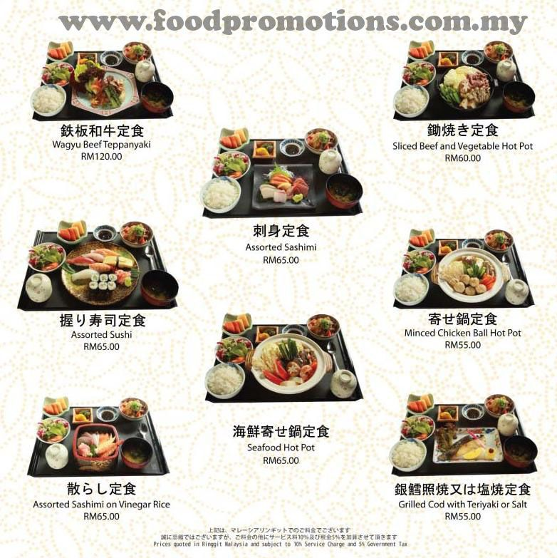 Kitchen Design Malaysia Price: Malaysia Food Promotions: Benkay Japanese Restaurant Set