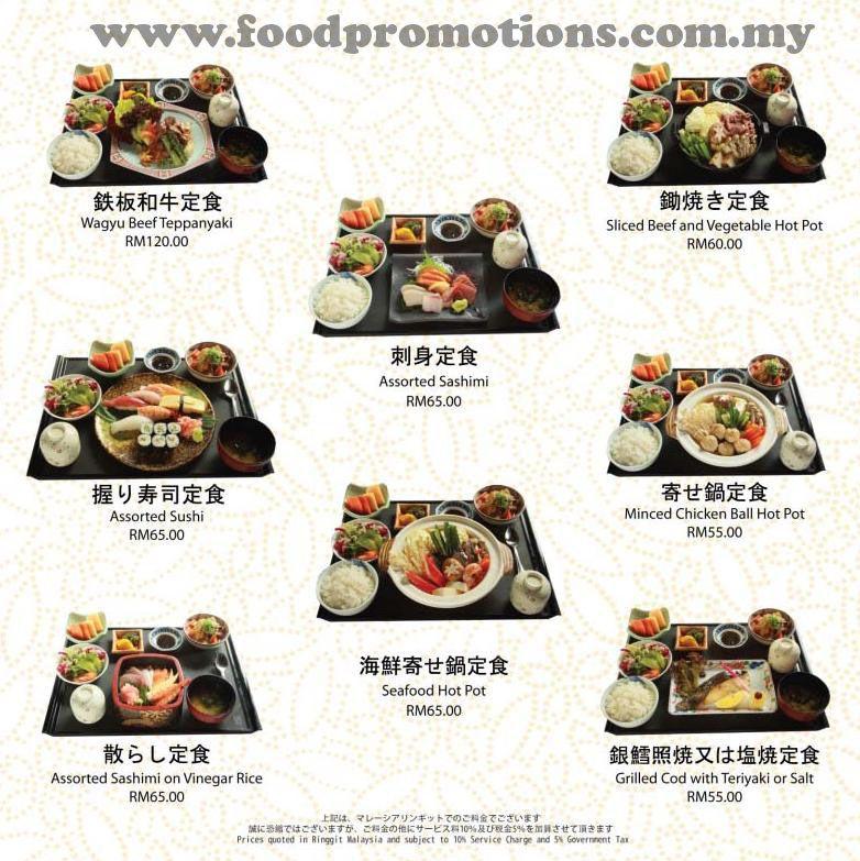 Malaysia Food Promotions Benkay Japanese Restaurant Set