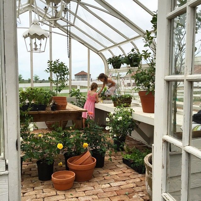 Pin for Later 21 Photos of Chip and Joanna Gainess Kids That Will Convince You They Live in a Fairy Tale When the Girls Checked on Their Fairy Gardens in the Greenhouse A...