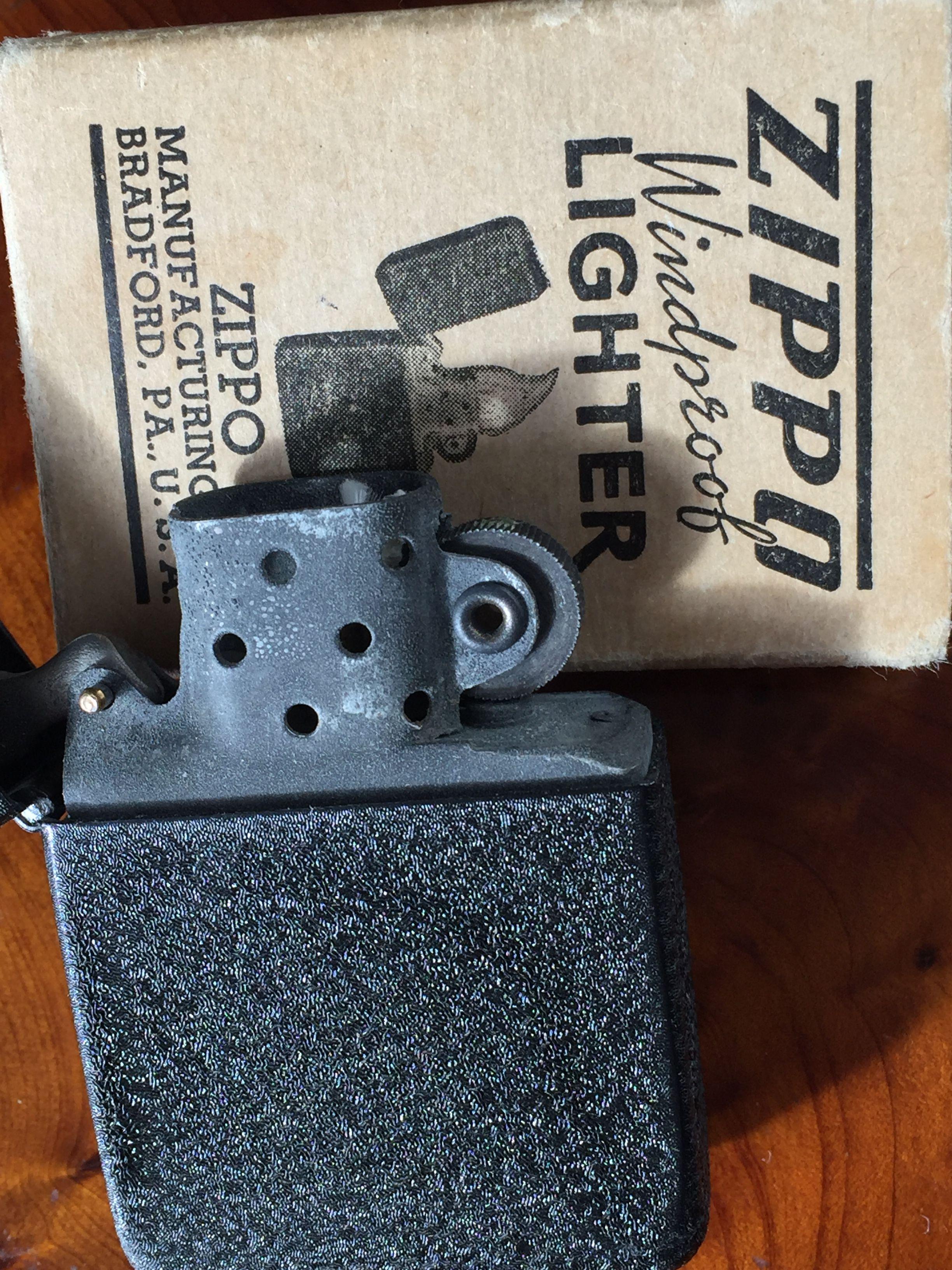 Zippo Black Crackle Lighter New In The Box 1943 Zippo Lighter Zippo Lighter