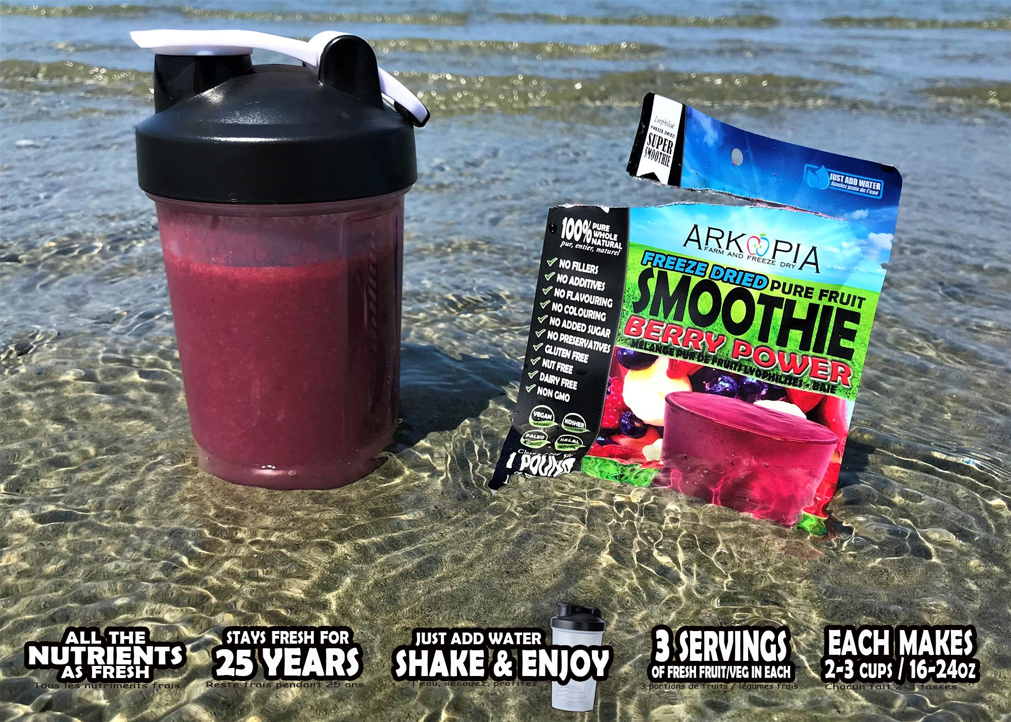 Berry power fruit smoothies fruit freeze drying