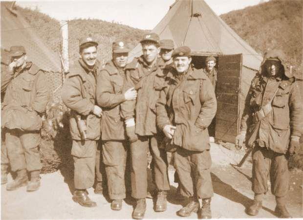 An undated handout photograph from the Korean War.