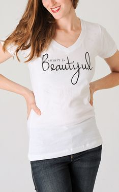 Smart Is Beautiful V-Neck by 4 All Humanity