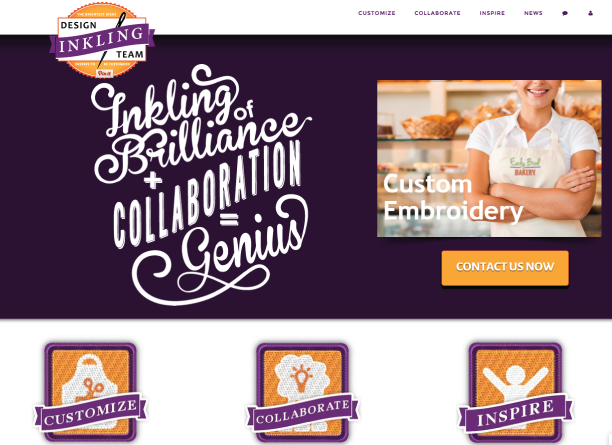 """The all new Inkling Design Team website. Create custom tees, apparel and other specialty items with the help of our """"Collaboration Team."""" We can help inspire your teams, employees, and rally people around your amazing causes!"""