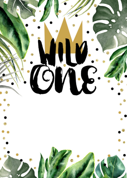 Wild One King of Things Crown 1st Birthday Party Invitation | Zazzle.com #babyboy1stbirthdayparty