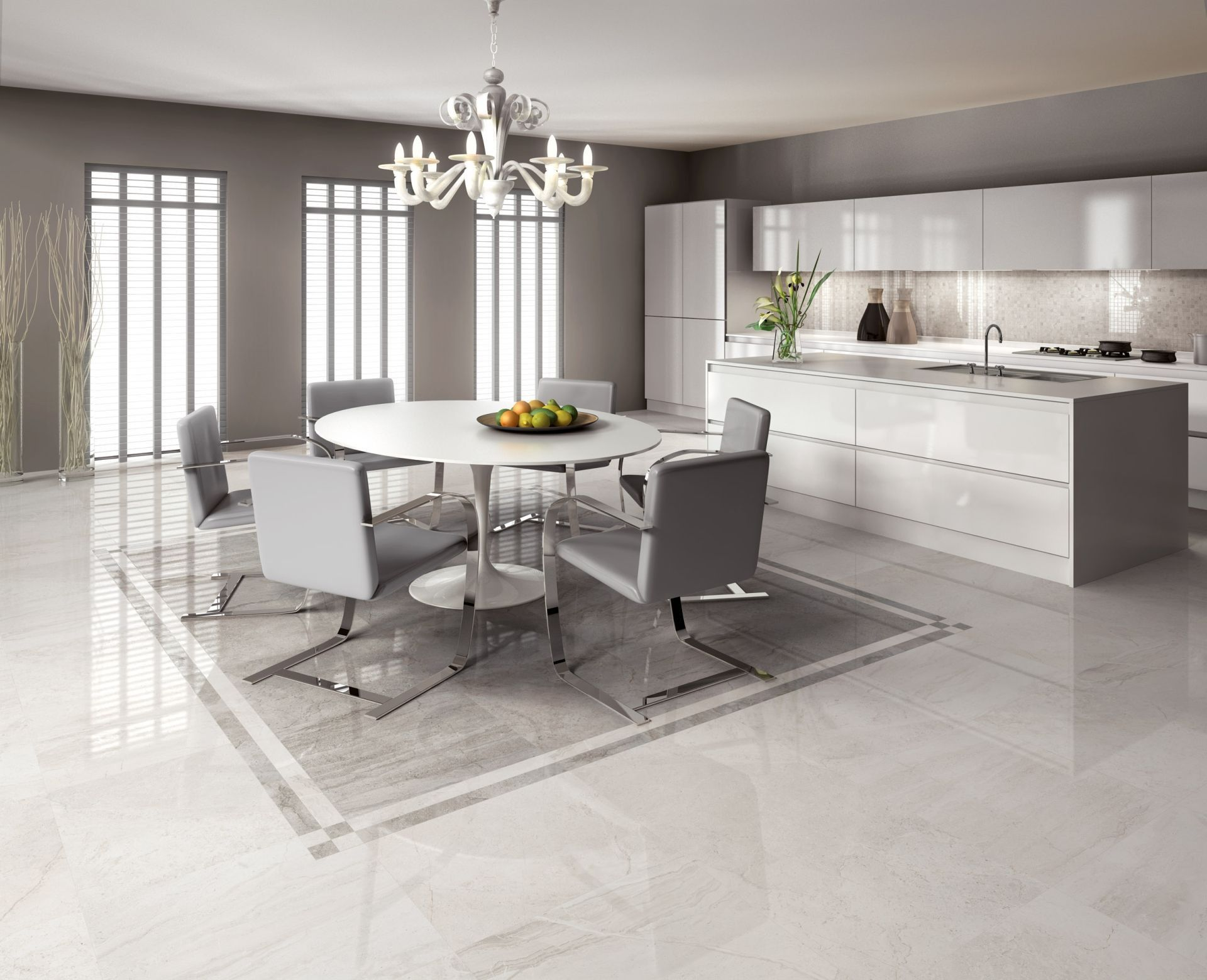 Lusso Pavimenti Cucina Moderna In 2020 Kitchen Flooring Open Plan Kitchen Living Room Marble Flooring Design