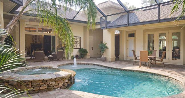 Courtyard Pool Home Floorplans