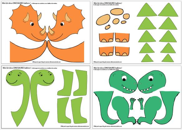 Ma déco d'Anniversaire dinosaure! (PtitePomme 6 ans!) + Printable Dinos Ballons - Allo Maman Dodo #dinosaur