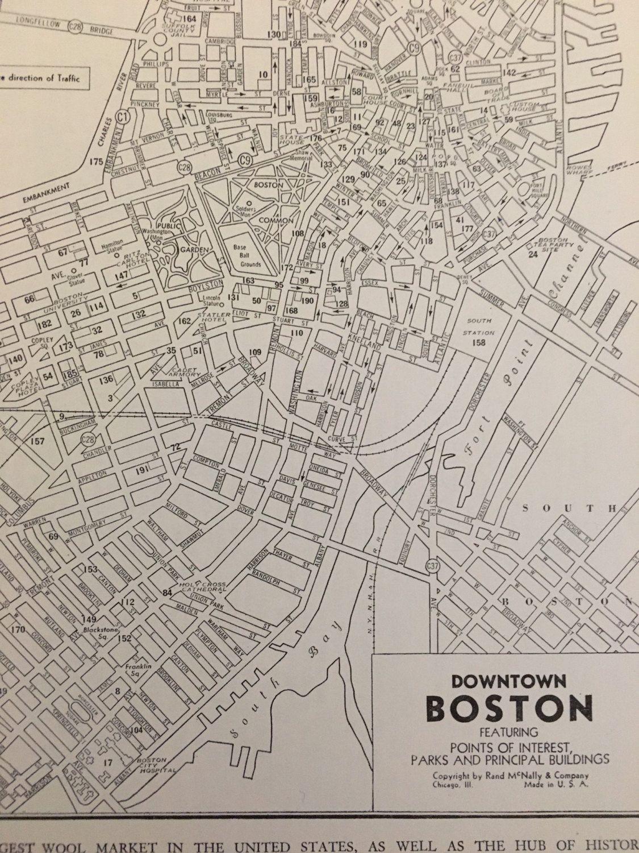 City Of Boston Map Antique Map Of Boston Massachusetts Vintage - Antique boston map