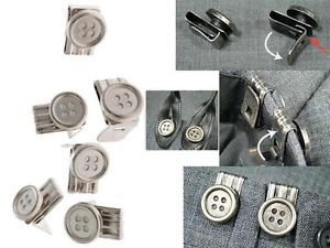 REMOVABLE INSTANT BUTTONS LEATHER BRACES BRACERS SUSPENDERS