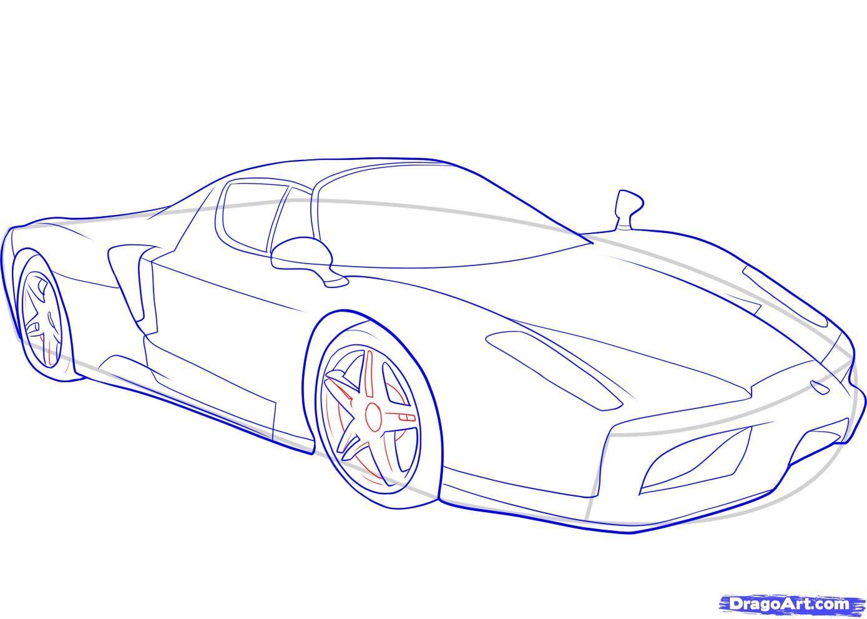 How To Draw A Ferrari Step 9 1 000000046529 5 Jpg 1389 991 Car