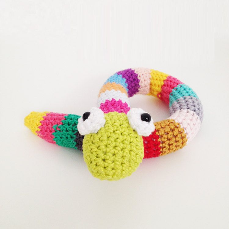 Crochet Snake Pattern English US terms and por annemariesbreiblog ...