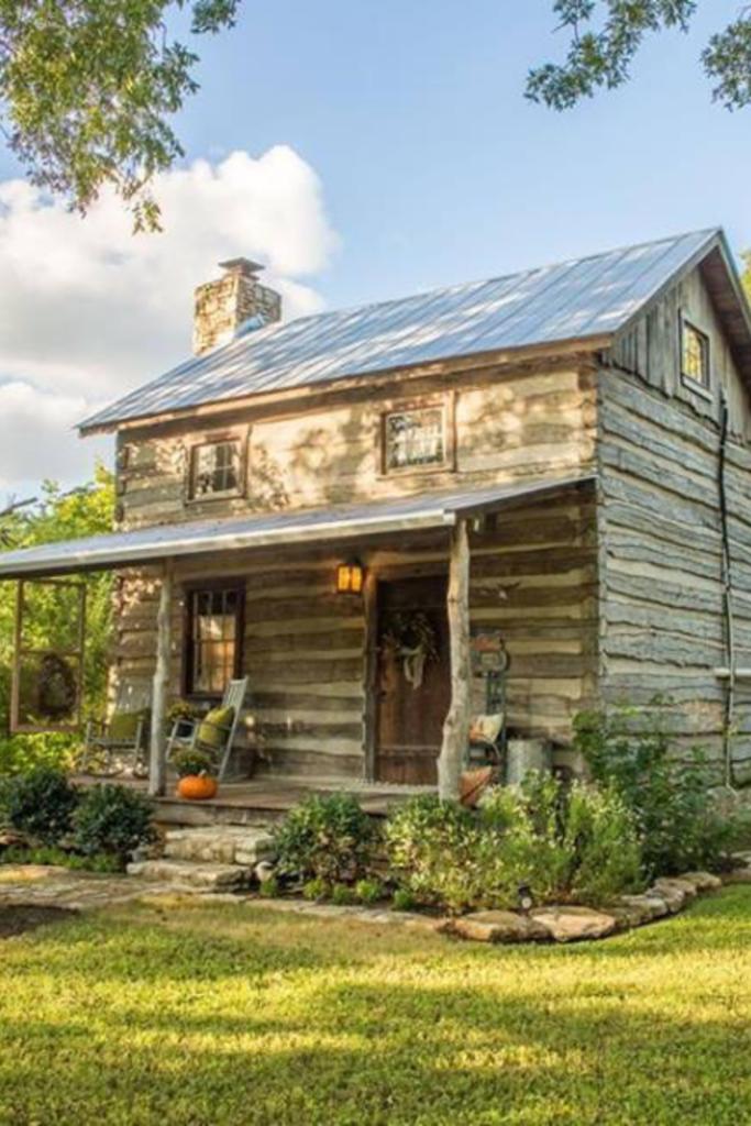 1800s Log Cabin In Fredericksburg Texas Captivating Houses Log Cabin Rustic Small Log Cabin Log Cabins For Sale
