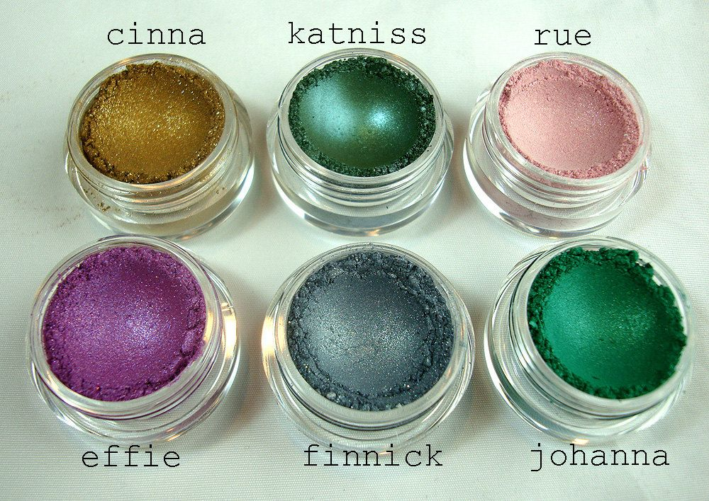 The Hunger Games Collection  6 piece mineral by BadBitchCosmetics, $21.00