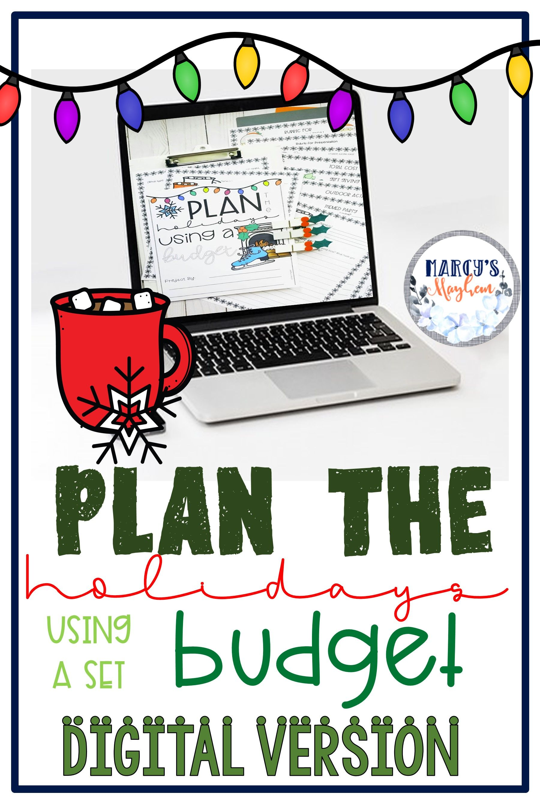 Christmas Activities For 4th Grade Amp 5th Budgeting Money