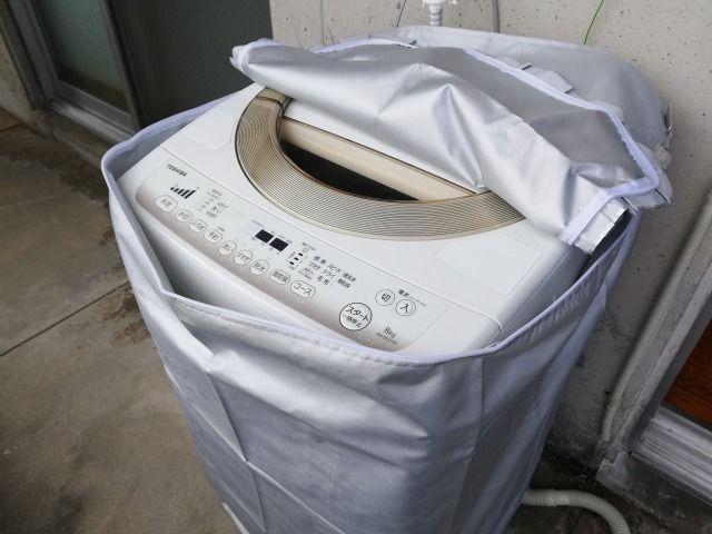 ファスナータイプの洗濯機カバーを購入して1ヶ月がたったので、レビューしていこうと思います。