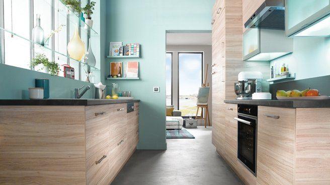 La cuisine fait honneur au bleu Interior inspiration, Kitchens and