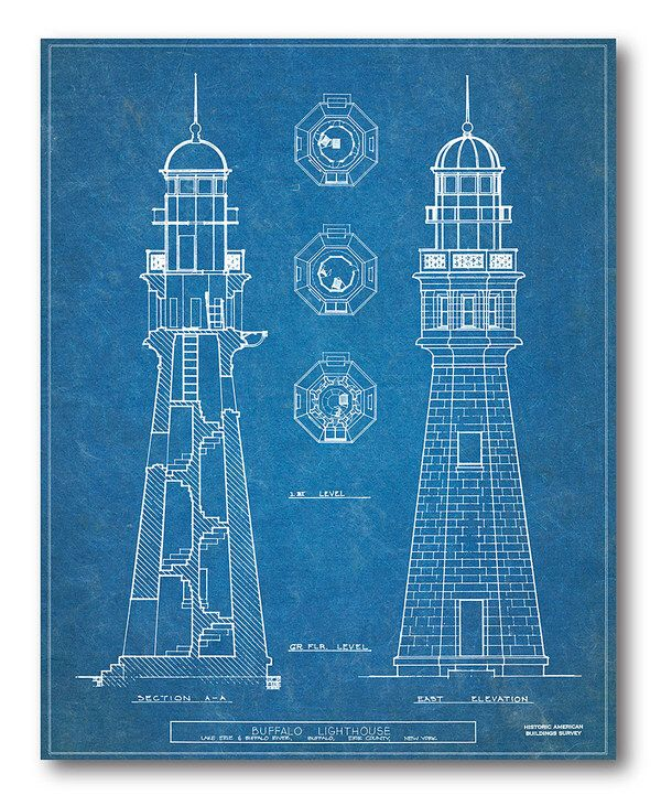 Look at this Lighthouse Blueprint I Wrapped Canvas on #zulily today - new blueprint company saudi arabia