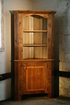 Reclaimed Wood Corner Cabinet With Open Top Reclaimed Wood ...