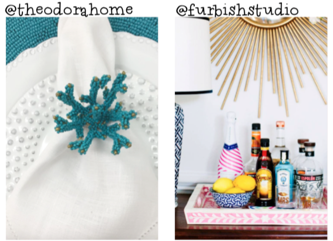 { Instadecor } Theodora Home: turquesa  Furbish Studio: bandeja/bar