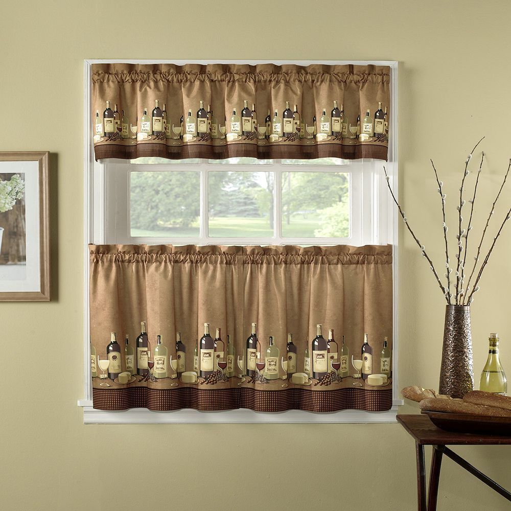 Chf wines pc kitchen curtain set multicolor products