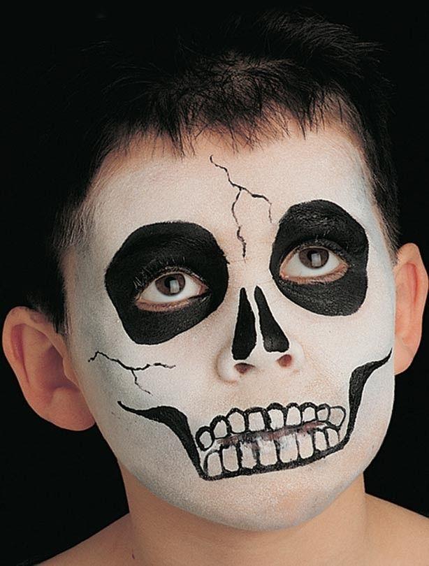 Skeleton face paint Maquillaje Maquillaje de fantasa y Para nios