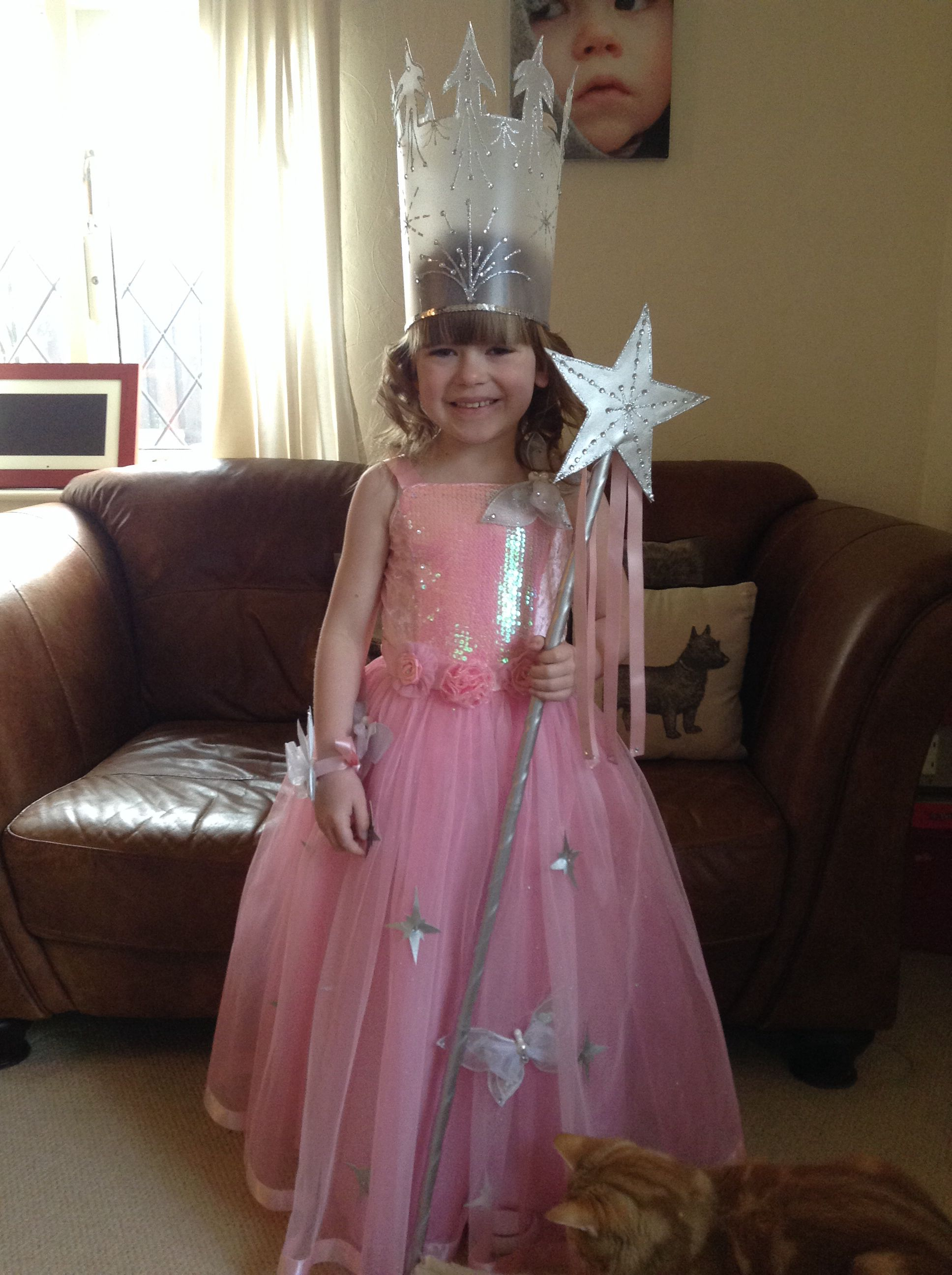 "My DIY ""Glinda the Good Witch"" costume. Little girl"