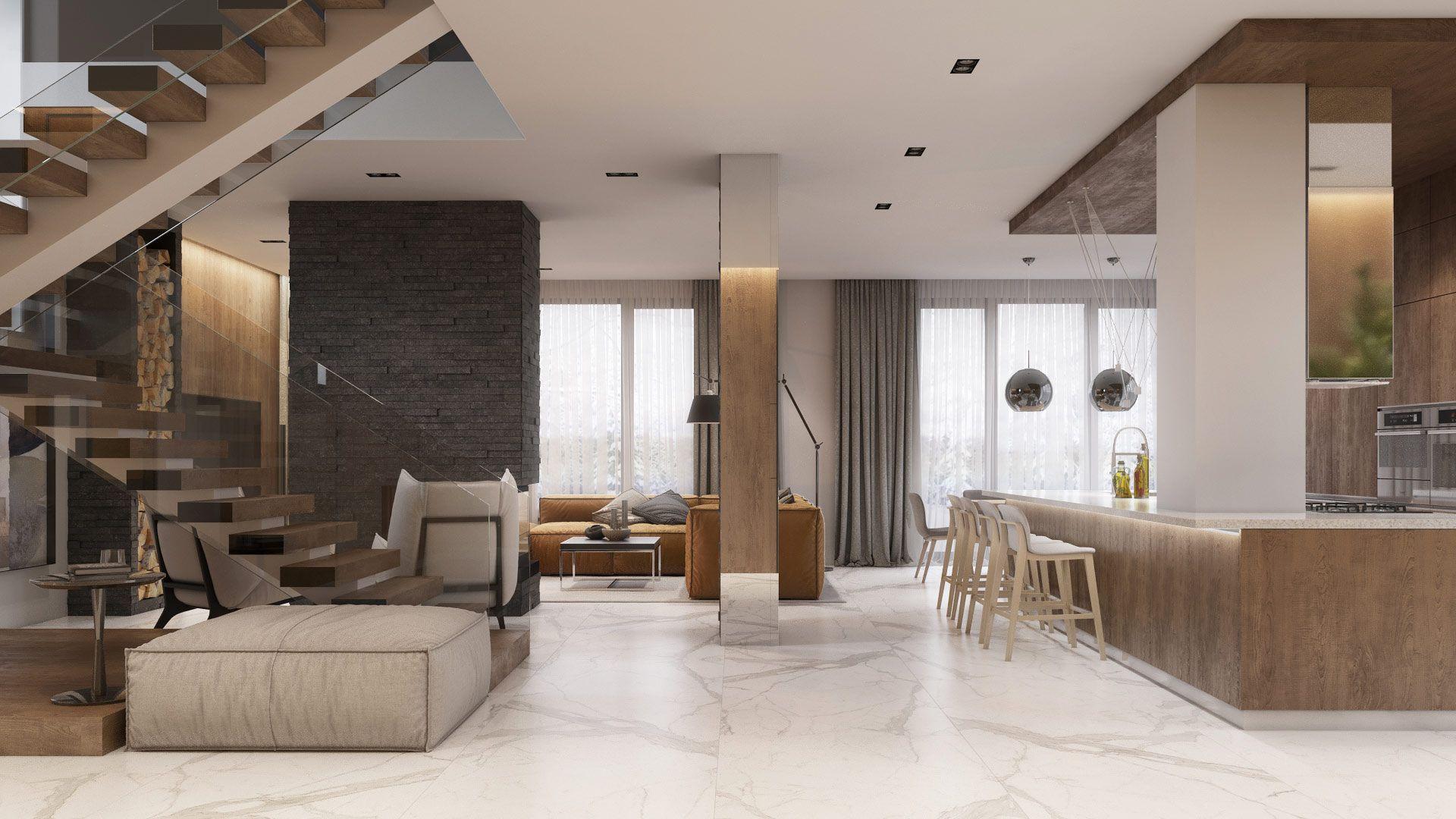 Forest house, IQOSA | апартаменты | Pinterest | House, Internal ...