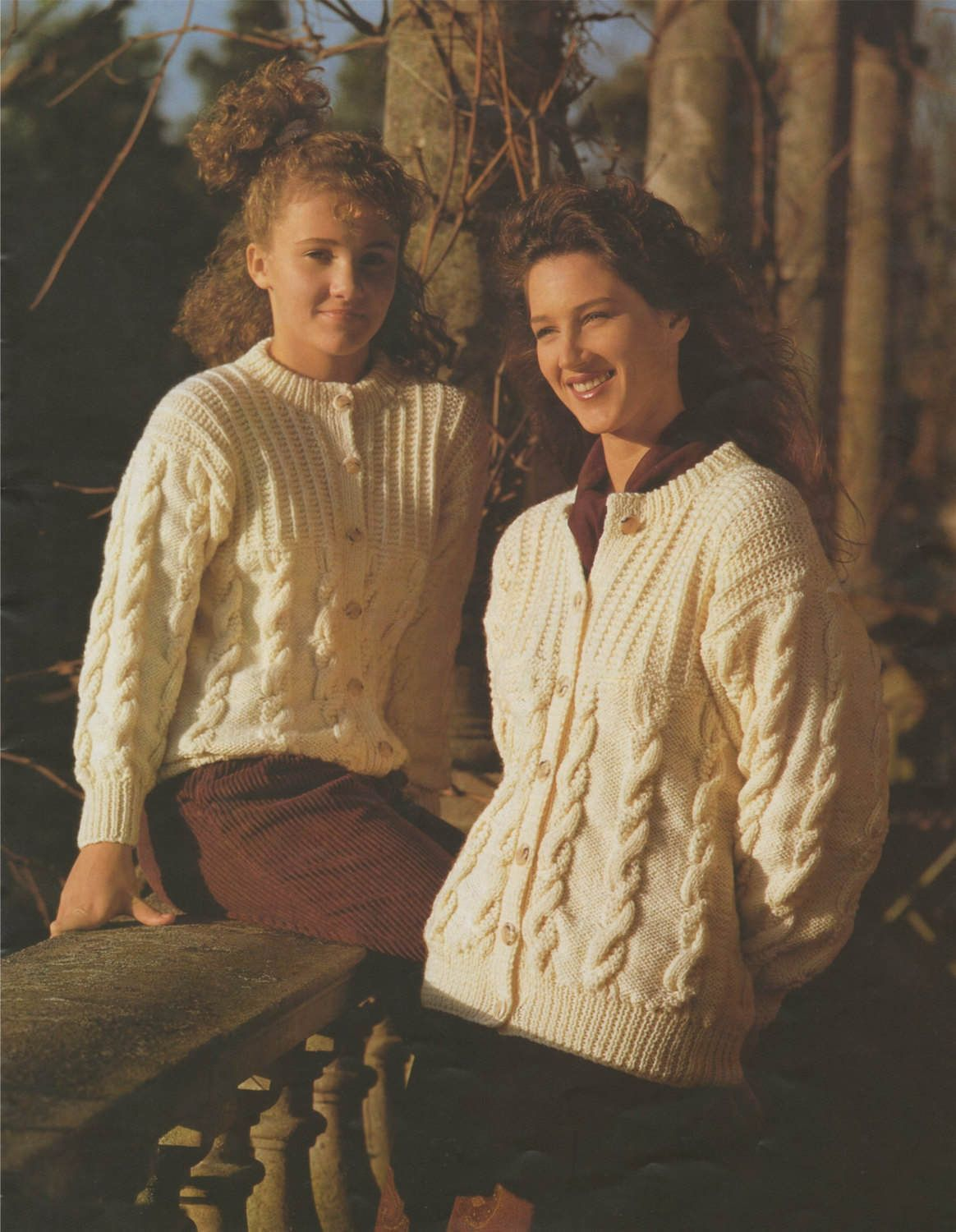 ab8e59a09bf0 Womens Aran Cardigan PDF Knitting Pattern   Ladies 30