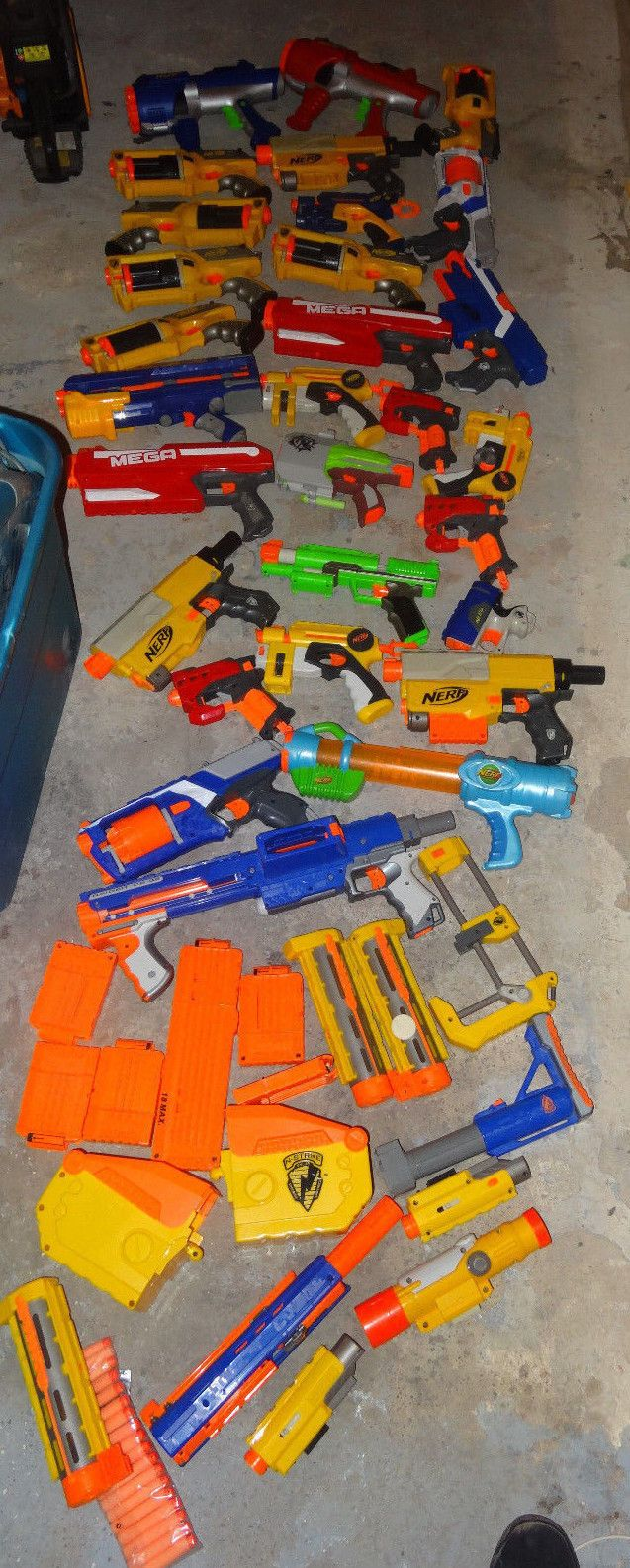 B5c Huge Nerf Gun Lot Guns Plus Accessories Darts Clips Guns Drums LOOK!