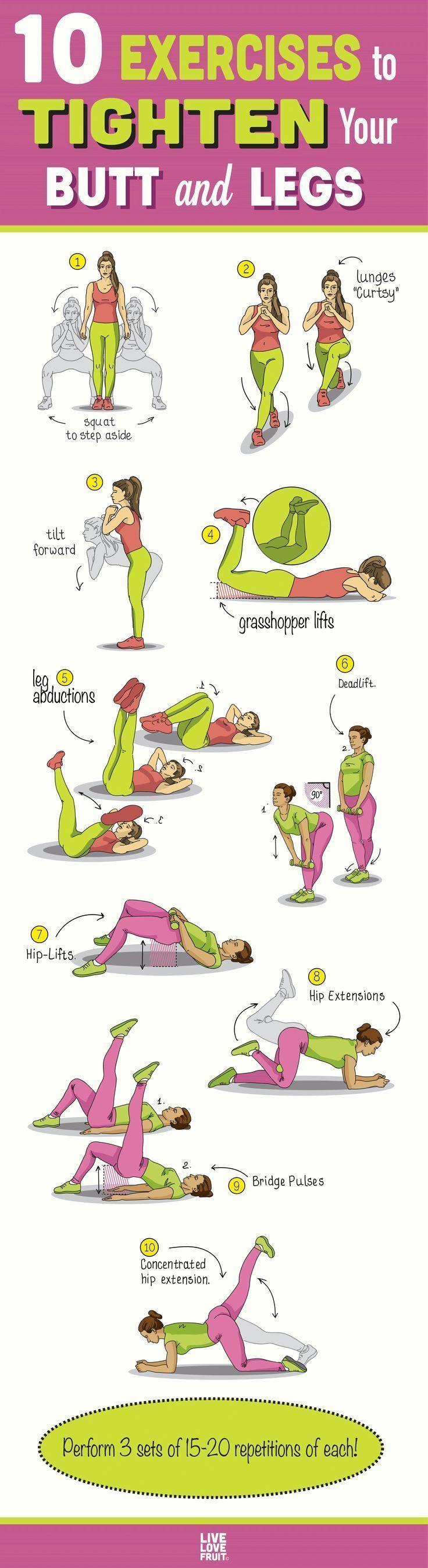 Photo of 10 Übungen zur Straffung von Po und Beinen (einwöchiger Plan) #betterlife 10