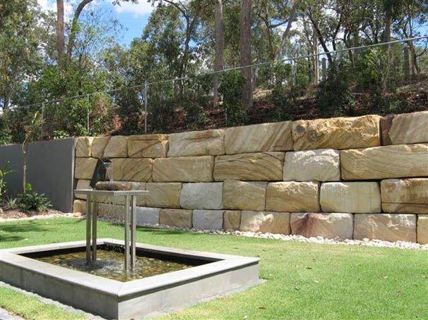 Sandstone Stacking Block Retaining Wall Backyard Retaining Walls Concrete Retaining Walls
