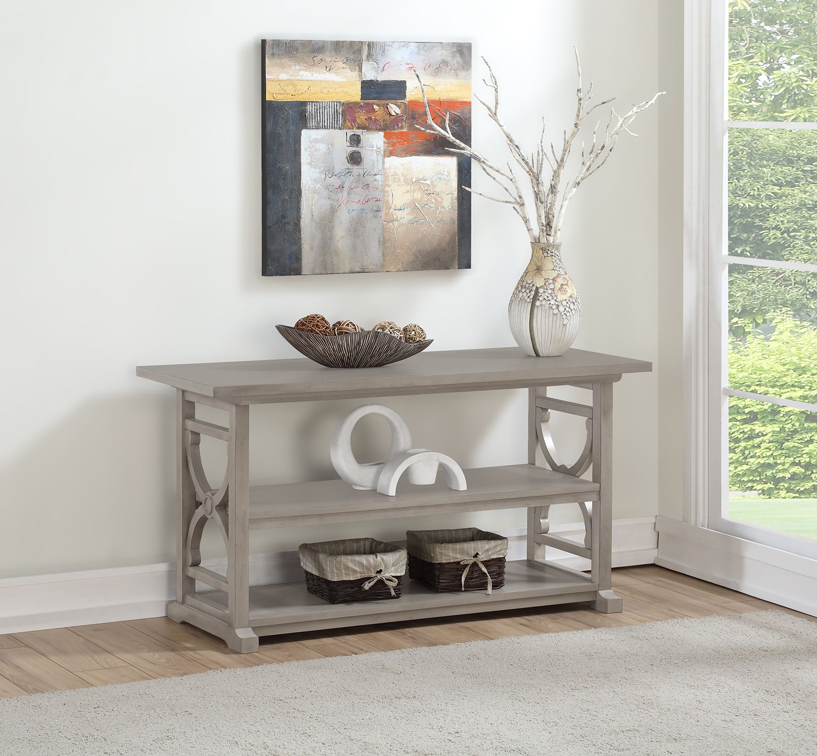 Better Homes & Gardens Ansley Console Table Gray
