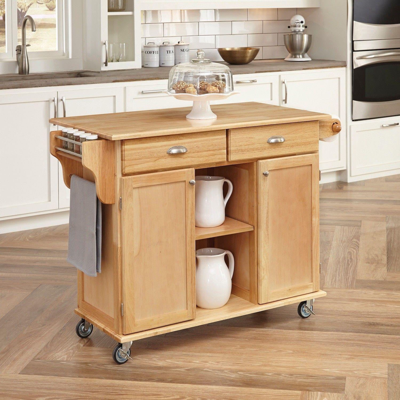 Home Styles Bessie Kitchen Island & Reviews   Wayfair   mesa de ...