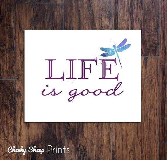 Life is Good    ► DESCRIPTION  • 1 Art Print in the size of your choice. • Image is printed on high quality Canon luster finish paper with