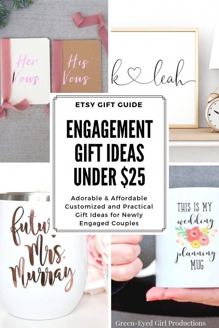 Engagement gift ideas under 25 an etsy gift guide