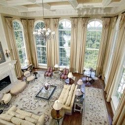 A view of the great room at Riverview Manor in McLean, Va.